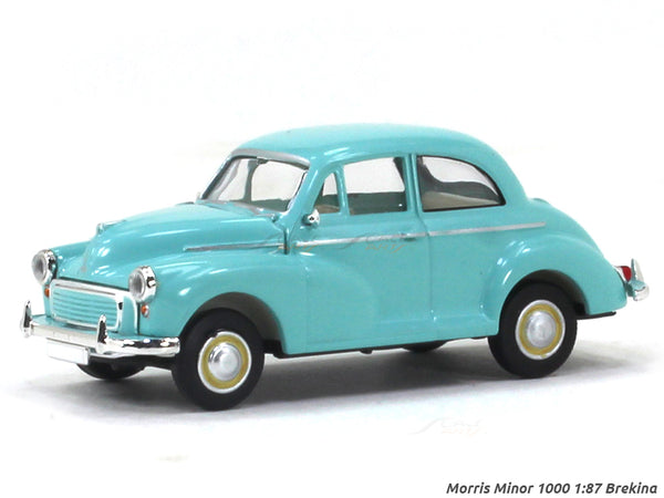 Morris Minor 1000 blue 1:87 Brekina HO Scale Model car