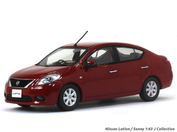 Nissan Lation / Sunny red 1:43 J Collection diecast Scale Model car
