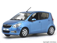 Opel Agila (Maruti Ritz) blue 1:43 Schuco diecast Scale Model Car