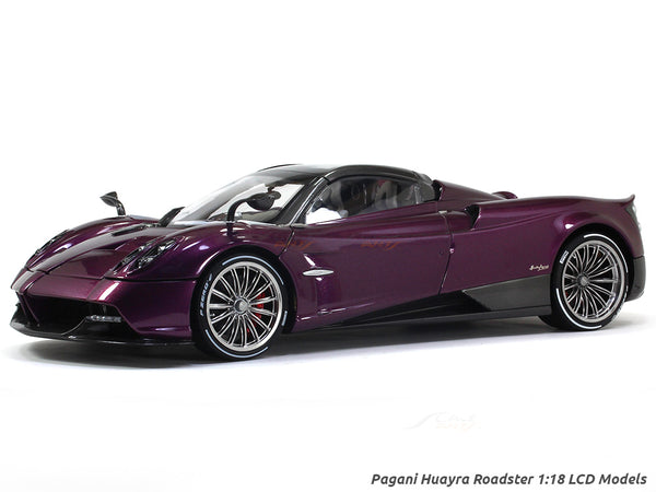 Pagani Huayra Roadster Purple 1:18 LCD models diecast scale car