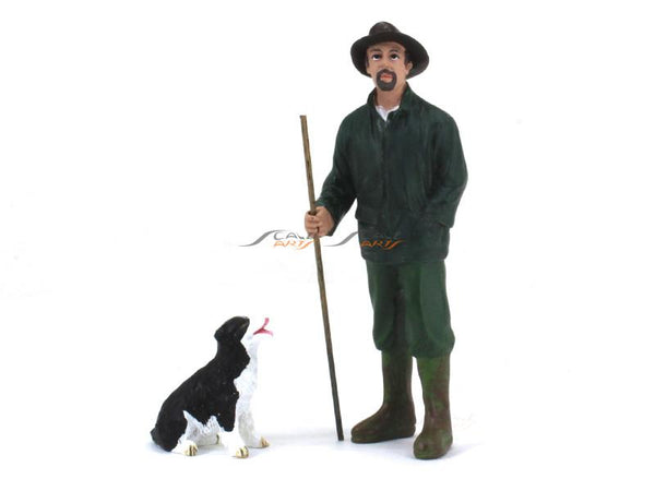 Patrick and Dog 1:24 American Diorama scale model figure accessories