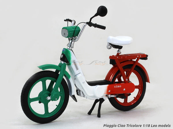 Piaggio Ciao Tricolore 1:18 Leo Models diecast scale model bike