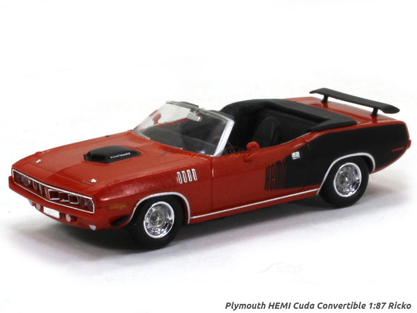 Plymouth HEMI Cuda Convertible red 1:87 Ricko HO Scale Model car