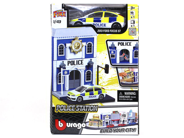 Police Station diorama with car 1:43 Bburago kit