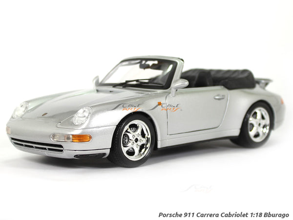 Porsche 911 Carrera Cabriole 1:18 Bburago diecast Scale Model car