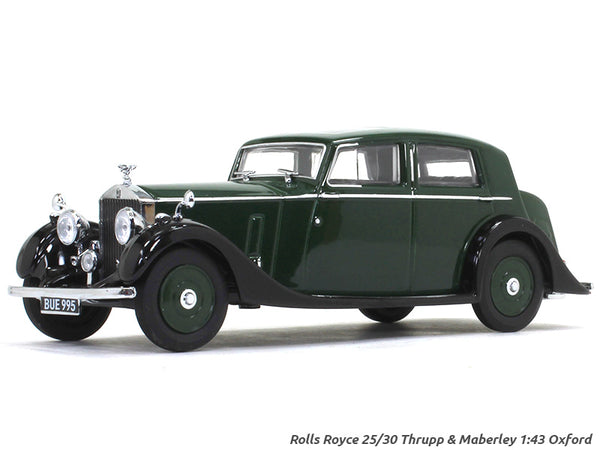 Rolls-Royce 25-30 Thrupp Maberley green 1:43 Oxford diecast Scale Model Car
