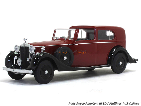 Rolls Royce Phantom III SDV Mulliner 1:43 Oxford diecast Scale Model Car