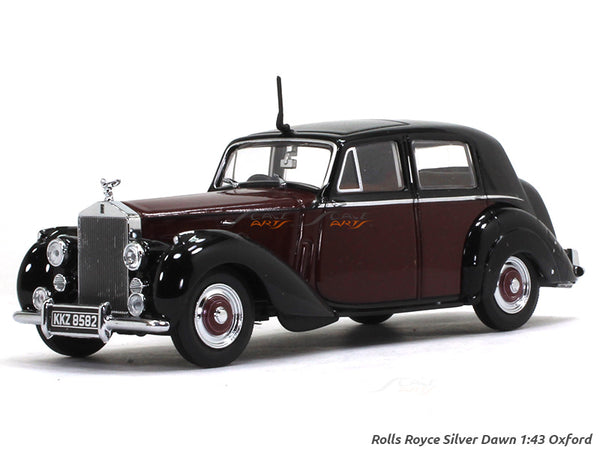 Rolls-Royce Silver Dawn red 1:43 Oxford diecast Scale Model Car