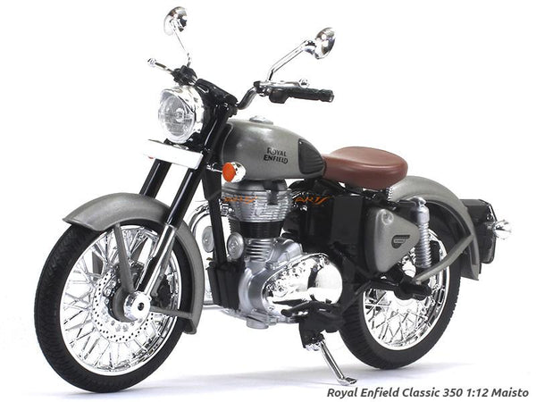 Royal Enfield Classic 350 gray 1:12 Maisto diecast Scale Model bike