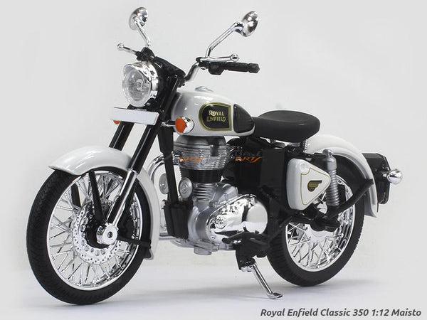 Royal Enfield Classic 350 White 1:12 Maisto diecast Scale Model bike