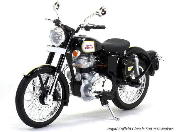 Royal Enfield Classic 500 bullet black 1:12 Maisto diecast Scale Model bike
