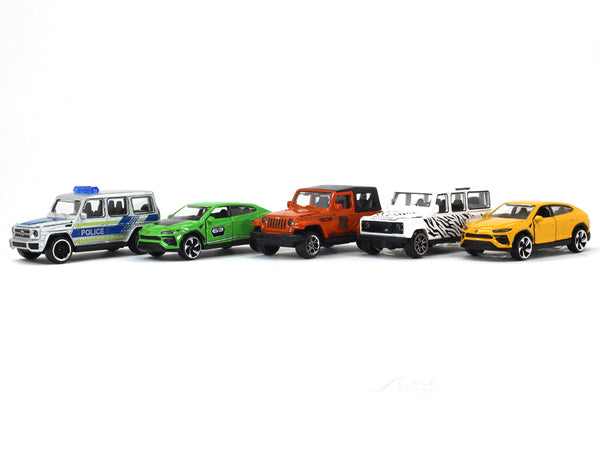 SUV 5 Piece Giftpack 1:64 Majorette diecast Scale Model car