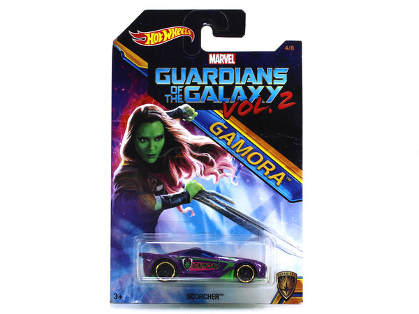 Scorcher Gamora Guardians of the Galaxy Vol. 2 1:64 Hotwheels diecast Scale Model car