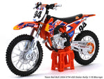 Team Red Bull 2004 KTM 450 Dakar Rally 1:18 Maisto diecast scale model bike
