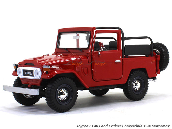 Toyota FJ 40 Land Cruiser Convertible 1:24 Motormax diecast scale model car