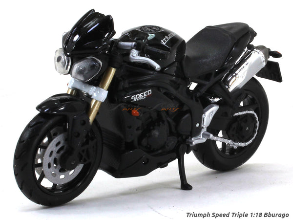 Triumph Speed Triple 1:18 Bburago diecast scale model bike