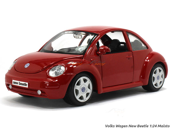 Volkswagen New Beetle red 1:24 Maisto diecast Scale Model car