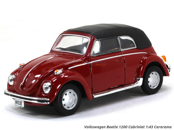 Volkswagen Beetle 1200 Cabriolet softtop 1:43 Cararama diecast Scale Model Car