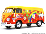 Volkswagen Type 2 T1 Delivery Van Flower Power 1:24 Motormax diecast scale model car