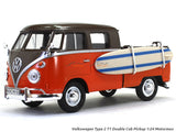 Volkswagen Type 2 T1 Double Cab Pickup with surfboard 1:24 Motormax diecast scale model car