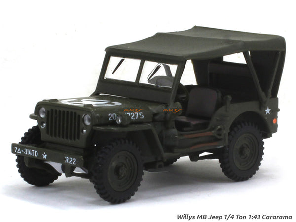 Willys MB Jeep 1/4 Ton 1:43 Cararama diecast Scale Model Car