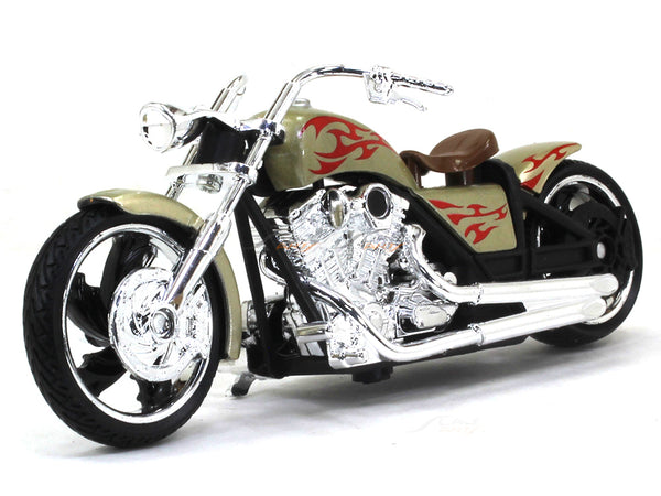 American Chopper brown 1:18 Motormax diecast scale model bike