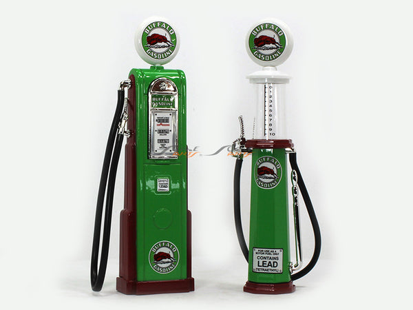 Buffalo Gasoline Service Gas Pump set 1:18 Road Signature Yatming diecast model
