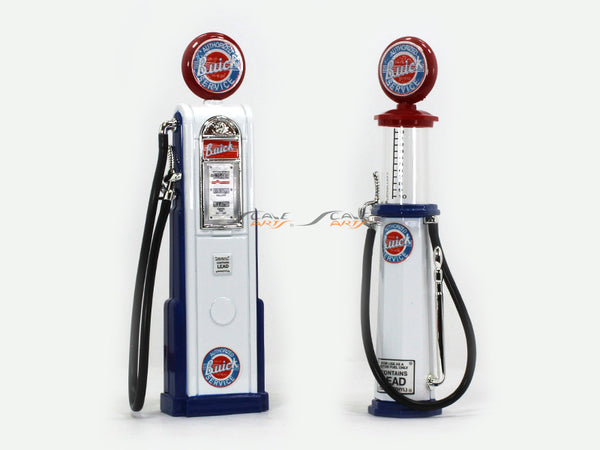 Buick Gasoline Service Gas Pump set 1:18 Road Signature Yatming diecast model