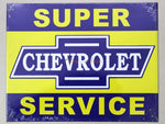 Chevrolet Service Tin plate collectible signboard