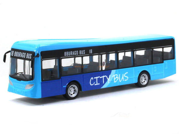 City bus blue Bburago 19cm diecast Scale Bus