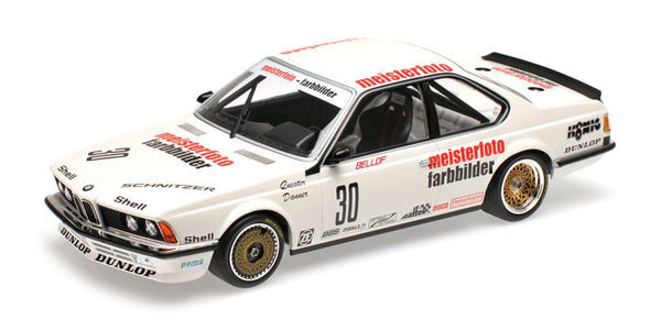 Pre-order 1983 BMW 635 CSi Schnitzer Eterna #30 ETCC 1:18 Minichamps diecast Scale Model Car