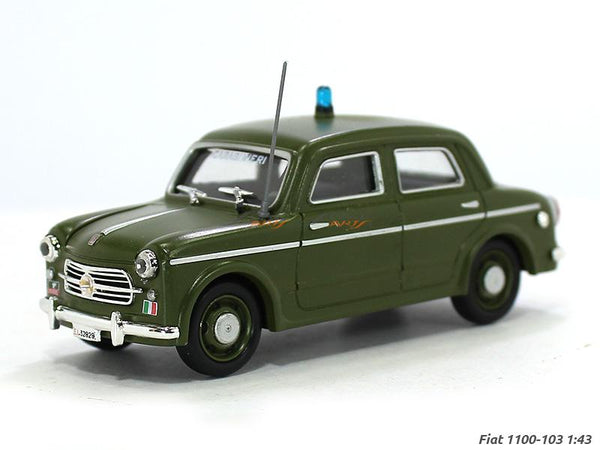 1954 Fiat 1100 103 police 1:43 DeAgostini diecast Scale Model Car