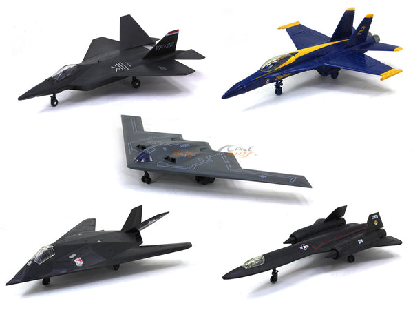 Set of 5 Fighter Jets 1:72 NewRay Plastic model