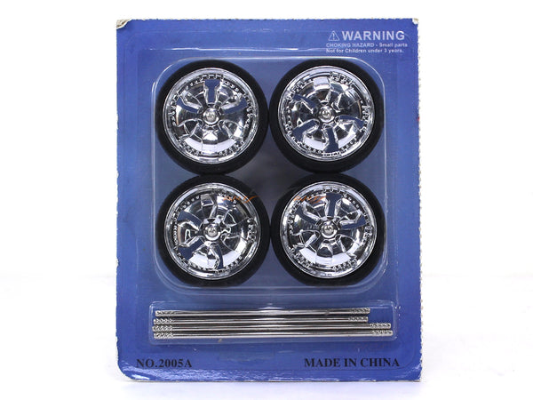 4X Wheels & Rims set 2 1:18 scale model accessories