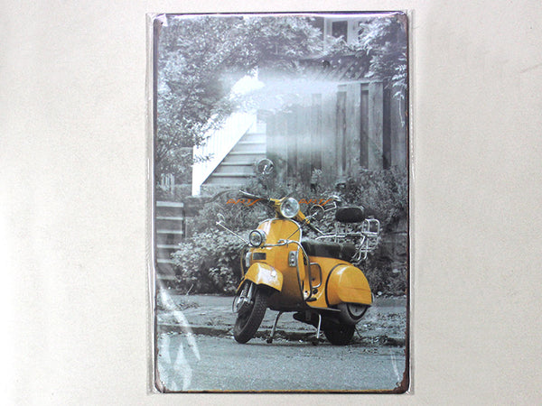 Vespa 2 Tin plate collectible signboard