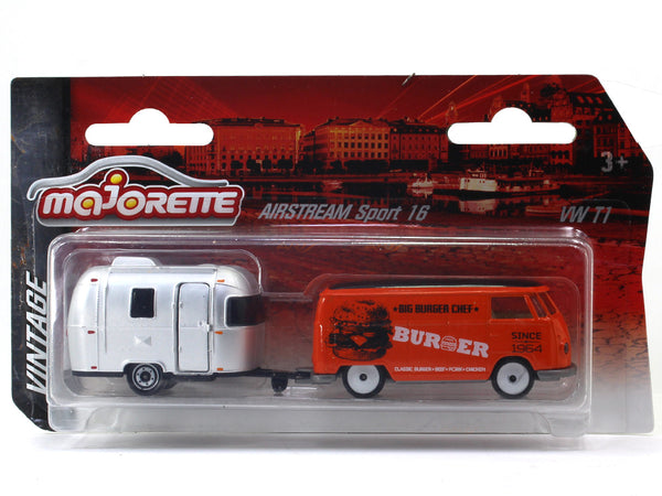 Volkswagen T1 Airstream sport 16 1:64 Majorette diecast scale model car