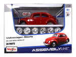 Volkswagen VW Beetle red 1:24 Maisto Model Kit car diecast scale model