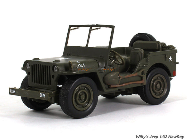 Willys Jeep 1:32 NewRay diecast scale model car