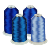 Simthread 5000m each Various Assorted Color Packs of Polyester Embroidery Machine Thread for All Embroidery Machines