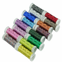16 or 32 Assorted colors Metallic thread for embroidery machine or french embroidery as decorative jewelry lace thread 200Y each
