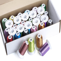 Simthread 32 Colors 500 Meters each spool Metallic Thread for Embroidery Machine /Hand Embroidery