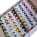 Simthread 120 Colors 1000M Each Polyester Embroidery Machine Thread for Embroidery & Sewing Machines