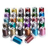 32 color 500m each metallic thread