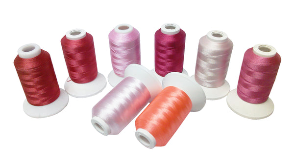 Simthread Polyester Embroidery Machine Thread 8 Colors/Kit, 500M/Spool