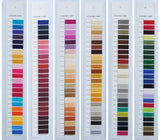 Simthread Rayon Embroidery Thread physical color card with 432 colors, made of real rayon thread