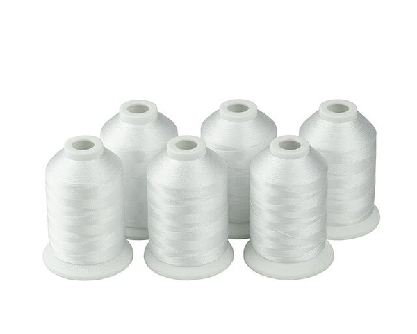 Simthread Polyester Embroidery Machine Thread Black And White Colors 1000 Meters Per Spool