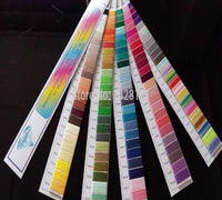 Simthread polyester embroidery thread color chart/color shade card /color cards with 120 basic popular colors