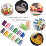 Polyester Embroidery Thread Kit 120D 1100Yards 40Colors with Simthread Conversion Chart for Brother Babylock Janome Singer Husqvarna Bernina Machines