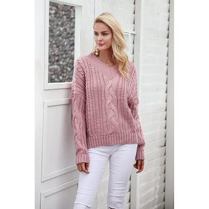 Long Sleeve Soft Pullover Sweater - Cheap Swimwear