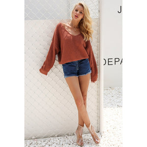 Sexy Backless Hollow Out Pullover - Cheap Swimwear